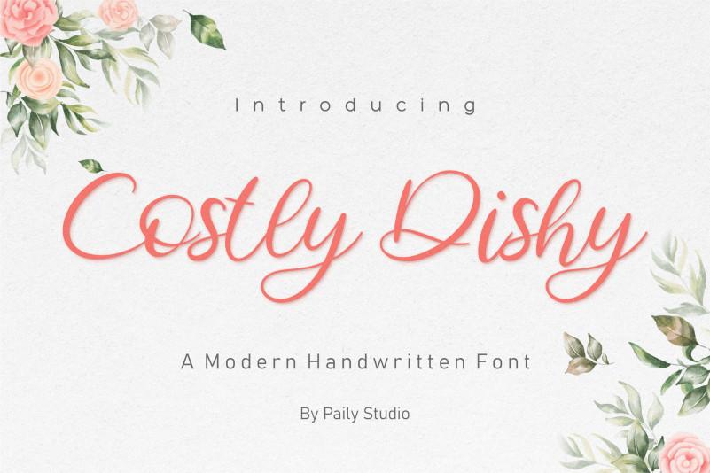 Costly Dishy Font