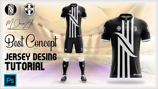 Best Juventus Concept Jersey Design Tutorial in Photoshop cc 2019 by M Qasim Ali