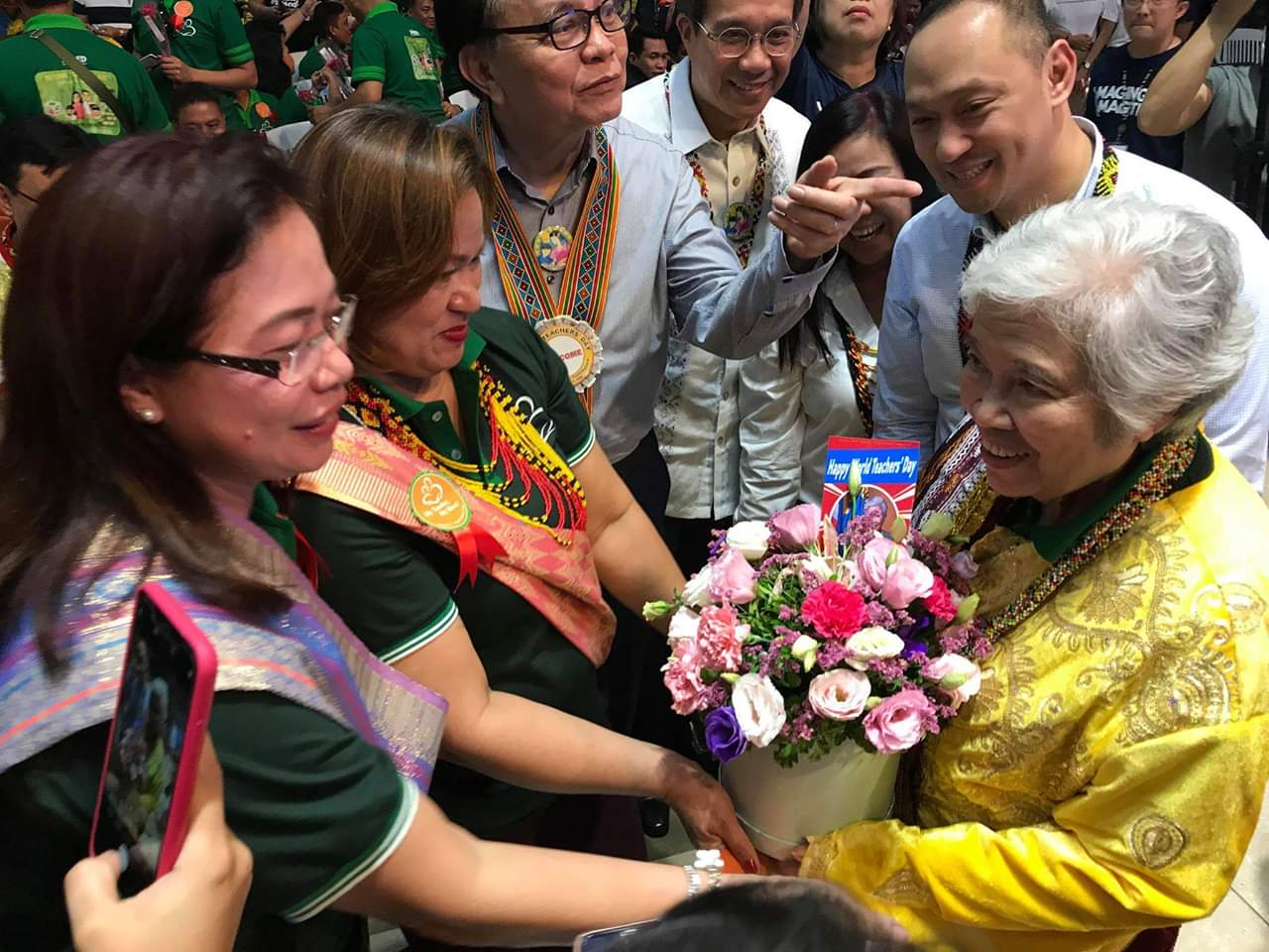 Education secretary Leonor Briones attends the culmination of World Teacher's Day