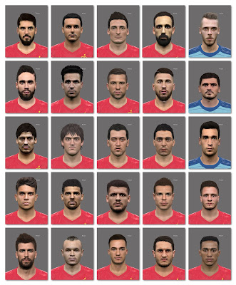PES 2016 FACEPACK SPAIN EURO 2016 (25 Players)