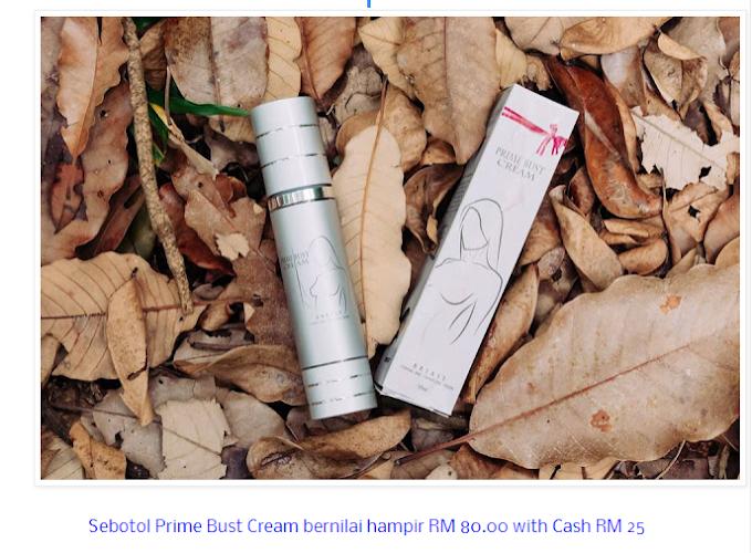 Menang Giveaway Saya Nak Prime Buster Cream