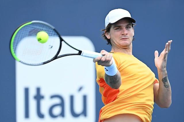 Thiago Wild, tenista brasileiro mais jovem a ser campeão de um ATP 250, perdeu na primeira rodada do quali de Roland Garros