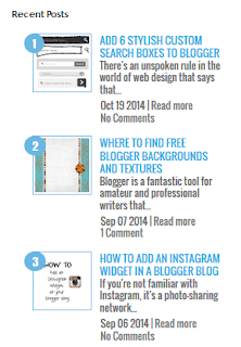 Numbered with Image Thumbnail Recent Posts Widget For Blogspot