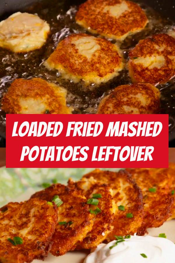 Fried mashed potatoes are the best part about Thanksgiving leftovers. #easy #recipe #frying #fried #mashedpotatoes #potato #thanksgiving #leftovers #cheddar #cheese