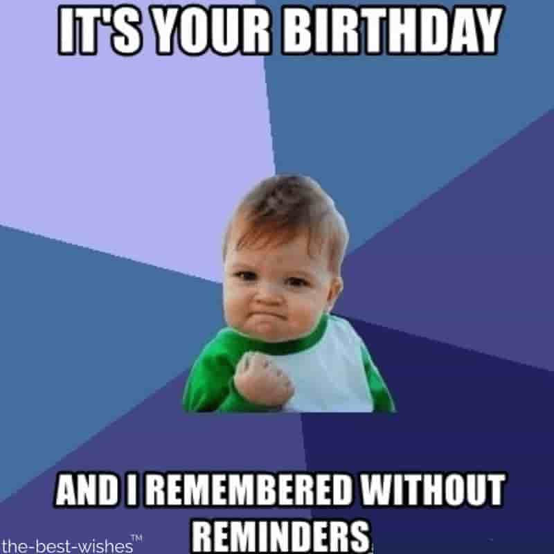 success kid cute birthday meme for her