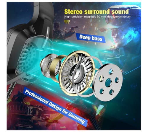 Powerextra PS5 Noise Cancelling Microphone Gaming Headset