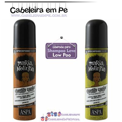 Leave in Chantilly Maria Molinha - Aspa em duas versões