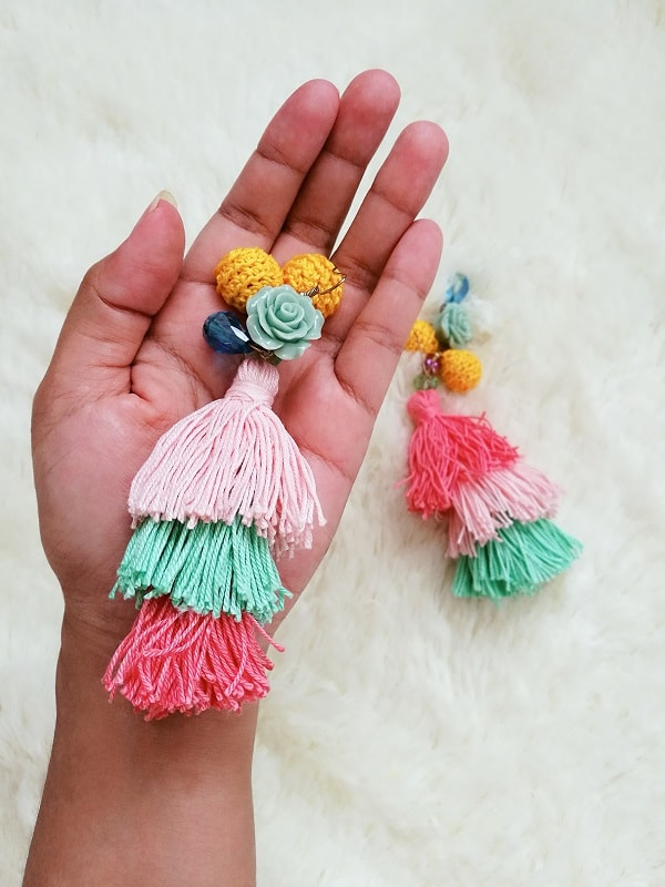 DIY Tassel Statement Earrings