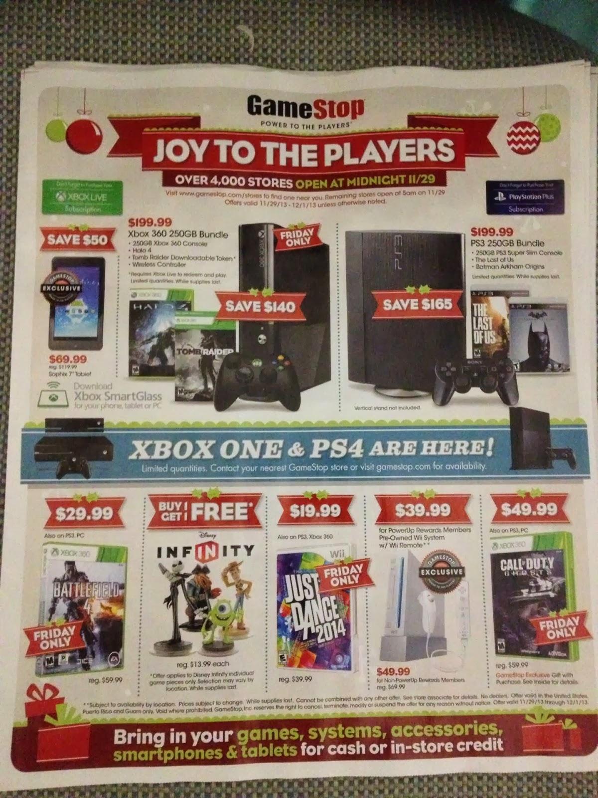 Video Gamer S Tribune Gamestop 2013 Black Friday Deals Leaked