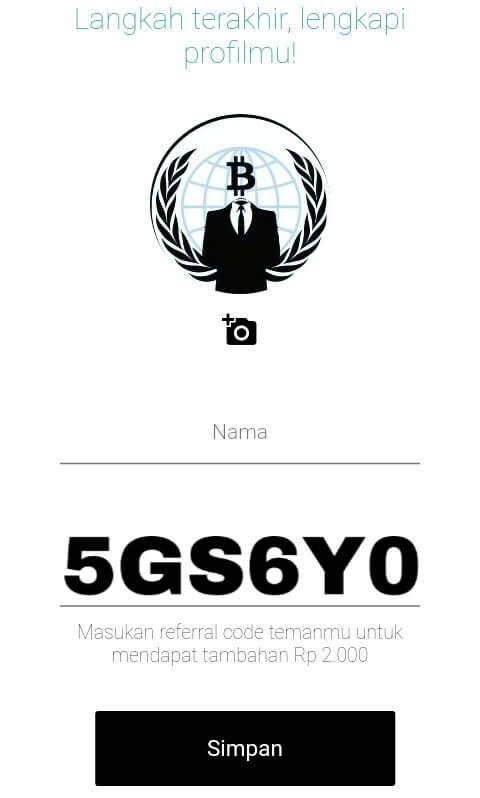 """upload gambar, masukkan nama lengkap Anda, dan masukkan kode undangan (Invitation Kode): """"5GS6Y0"""" (tanpa petik) dan pilih """"Simpan""""."""