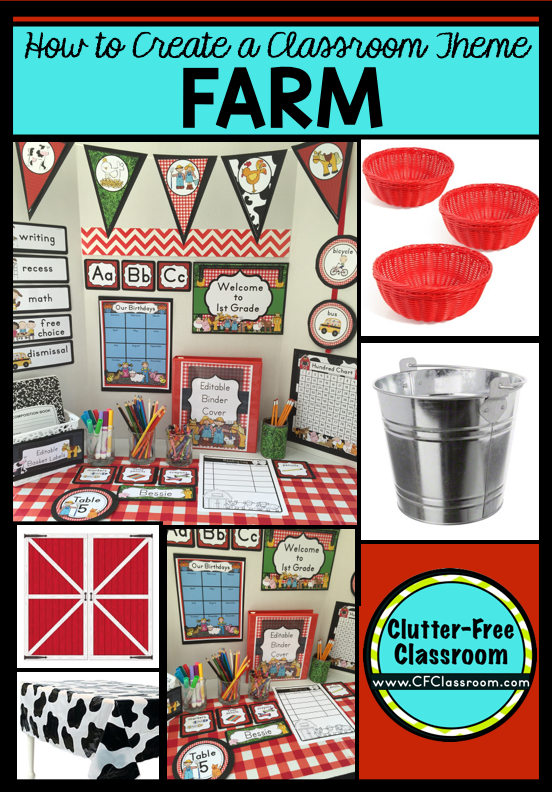 Classroom Decor Kit ~ Farm themed classroom ideas printable