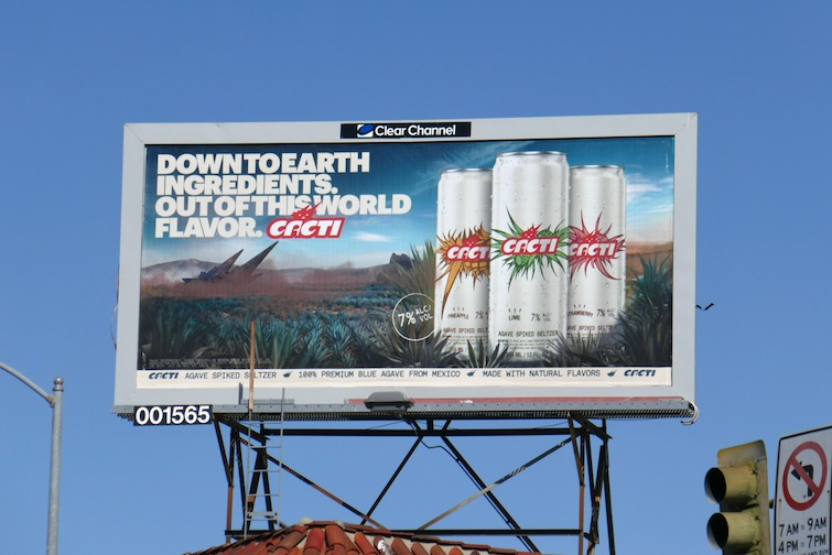 Cacti Spiked Seltzer billboard