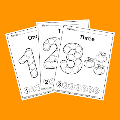 pumpkins dot markers free preschool coloring pages perfect for autumn and fall season learn to count from 1 to 10 for kids