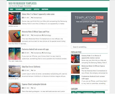 Seofix Template Blogger Fast Responsive