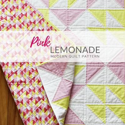 Pink Lemonade Quilt Pattern | Shannon Fraser Designs | Modern Quilt Pattern