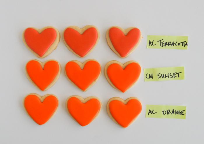 Comparing Orange Food Colorings: Chefmaster Sunset Orange, Americolor Orange and Terracotta