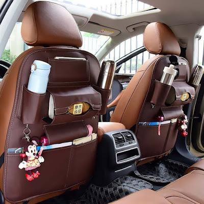 Back Seat Leather Storage Bag