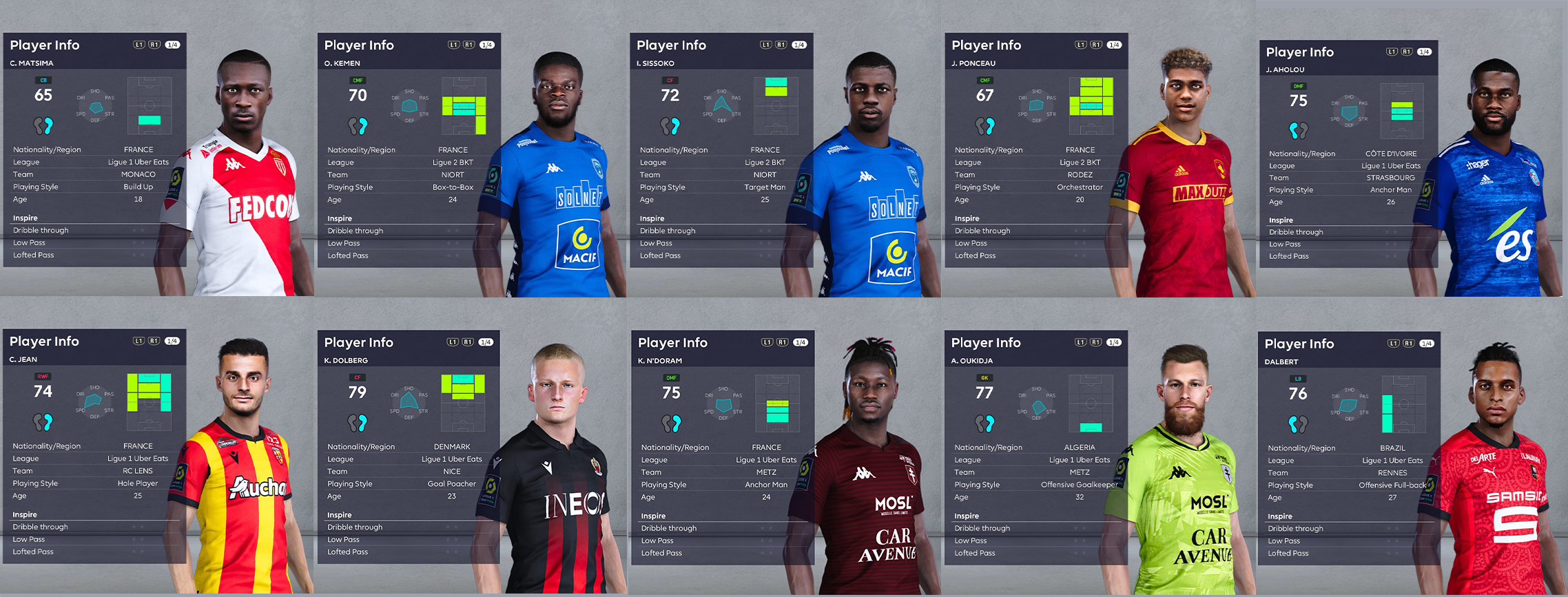 PES 2021 French Ligue 1 Facepack