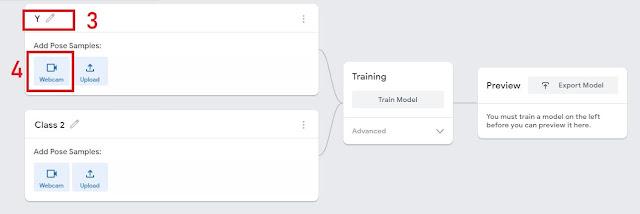 Google Teachable Machine Human pose estimation