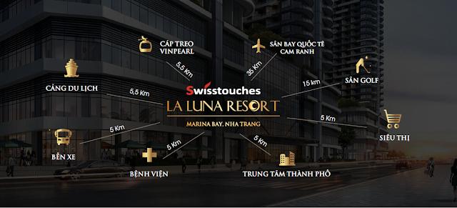 Vị Trí Swisstouches La Luna Resort Nha Trang