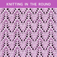 Eyelet Lace 80 -Knitting in the round
