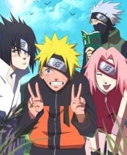 Naruto dan  kawan-kawan, Sasuke, Kakashi, Sakura, Uzumaki Naruto, Naruto