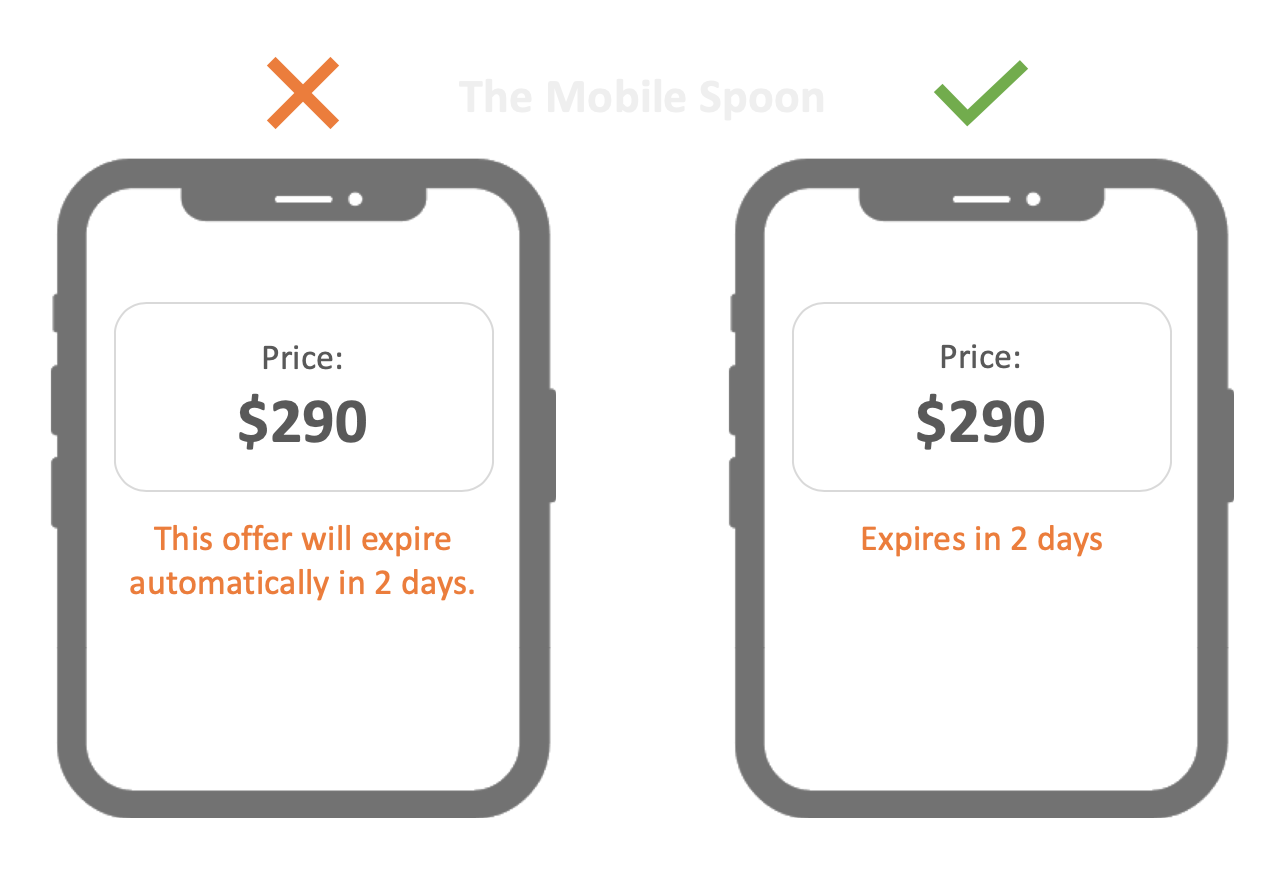 40 rules for writing and designing text in mobile apps - the mobile spoon