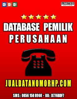 Jual Database Telphone Pemilik Perusahaan