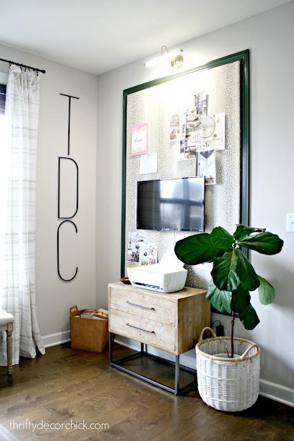 big DIY upholstered bulletin board