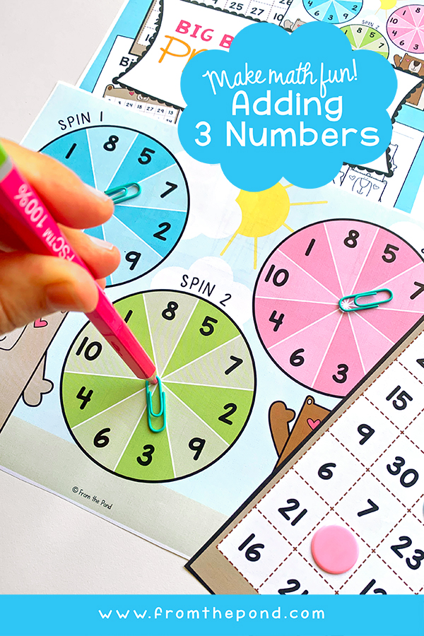 Math Center Adding 3 Numbers
