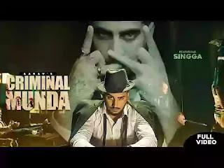 Checkout Aarav New Song Criminal Munda & its lyrics are penned by Singga