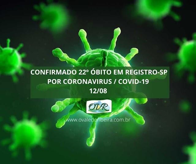 Confirmado 22 óbito por Coronavirus - Covid-19 em Registro-SP