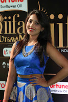 Madhu Shalini Looks Super Cute Slim trim Blue Choli Ghagra IIFA Utsavam Awards 42.JPG