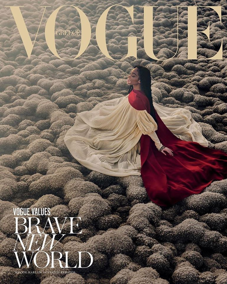 Winnie Harlow for Vogue Greece February 2020