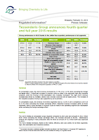 Tessenderlo, annual, 2015, report, front page