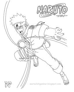 Mewarnai Naruto 3 Mewarnai Gambar