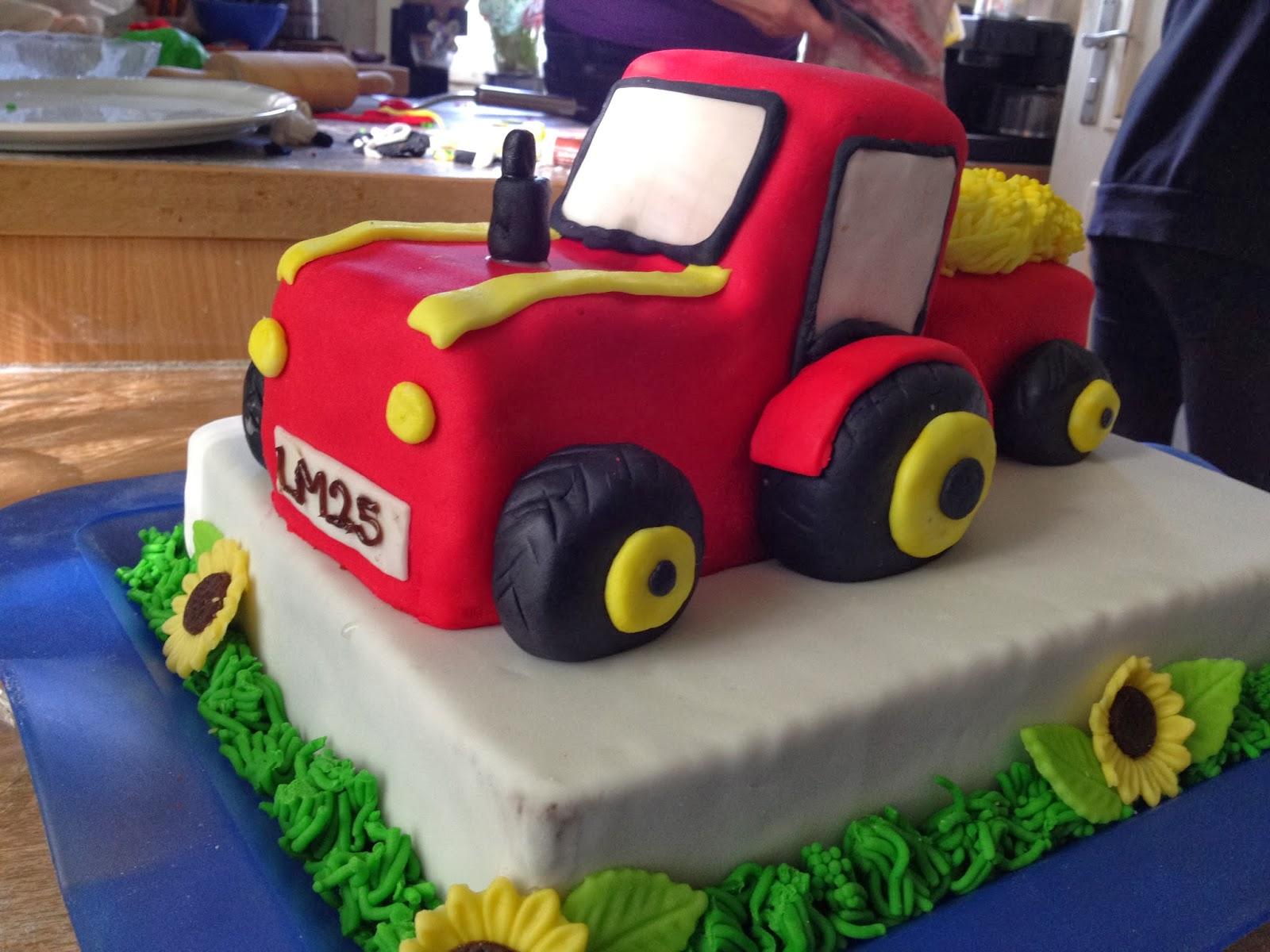 Meine Kleine Backstube Traktor Torte
