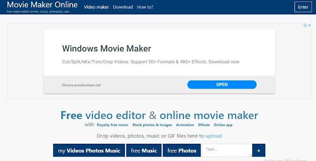 Yang kedua, ada nama Movie Maker Online saya yakin sobat pernah mendengar atau bahkan tidak asing dengan nama Movie Maker, salah satu software ternama yang mungkin pernah sobat install di desktop sobat, nah tool yang satu ini juga terdapat versi online nya dan bebas dari yang namanya watermark, sama dengan versi desktop.