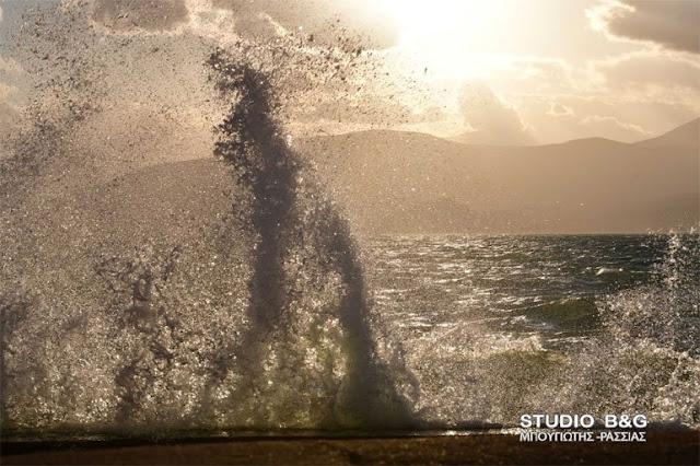 Λιμεναρχείο Ναυπλίου: Θυελλώδεις άνεμοι 8  Μποφόρ