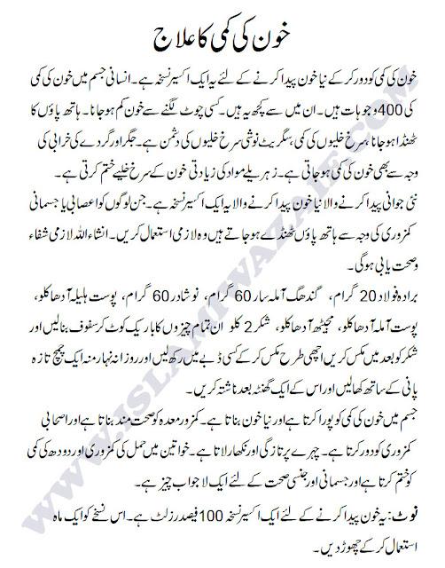 anemia ka ilaj in urdu