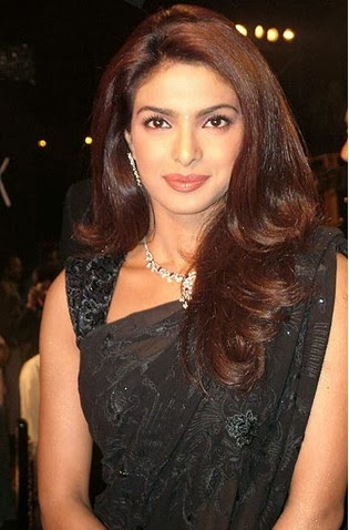 Priyanka chopra in black saree