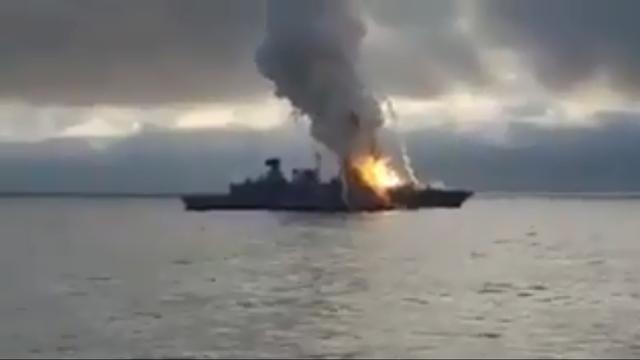 Έκρηξη σε γερμανική φρεγάτα - Πύραυλος κόλλησε στον εκτοξευτήρα Newsroom (βίντεο)