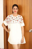 Lavanya Tripathi in Summer Style Spicy Short White Dress at her Interview  Exclusive 189.JPG