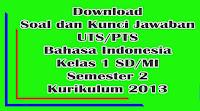 download soal uts bahasa iindonesia kelas 1 sd semester 2 kurikulum 2013