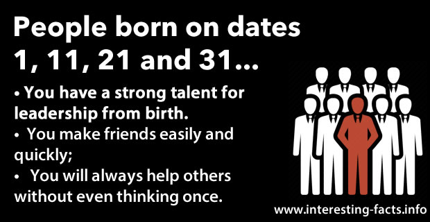 Here Is What Your Birth Date Reveals About You, Irrespective Of The Month  You Were Born In.