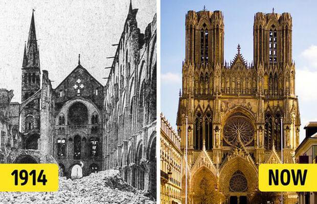 Nhà thờ này tọa lạc tại thành phố Reims, nước Pháp. Được xây dựng từ thế kỉ 13, đây được xem là công trình kiến trúc Gothic tiêu biểu của Pháp và là một trong số các nhà thờ cổ nhất, lớn nhất của Pháp.