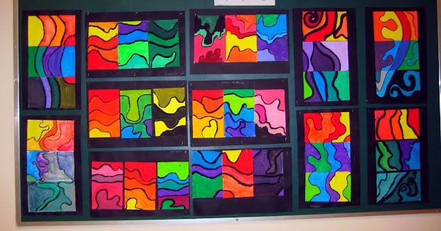 Art Teacher 'keeffe Inspired Abstract Landscapes
