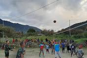 Penuh Keakraban, Satgas Pamtas RI-PNG Yonif Raider 514/SY Laksanakan Olahraga Bersama Masyarakat