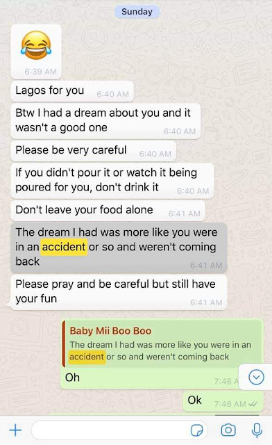 Nigerian lady cheats death after her car somersaulted twice and fell into a roadside ditch