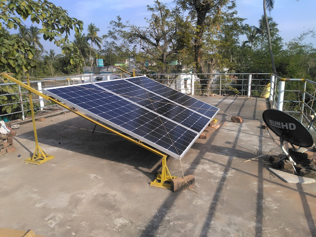 Rooftop Solar stucture design - foldable cyclone resistance Odisha